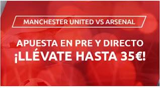 Mondobets promo United vs Arsenal 1-11-2020