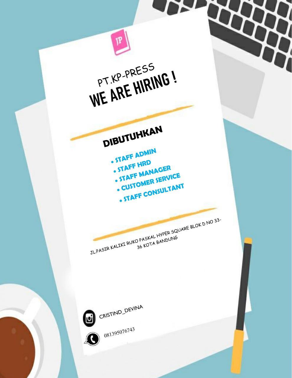 Lowongan Kerja PT. KP-Press Bandung Mei 2020