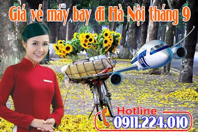 Giá vé máy bay đi Hà Nội tháng 9 mới cập nhật