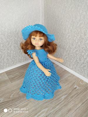 Платье со шляпкой с бантом