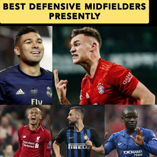 The five Best Defensive Midfielders within the World - hierarchical