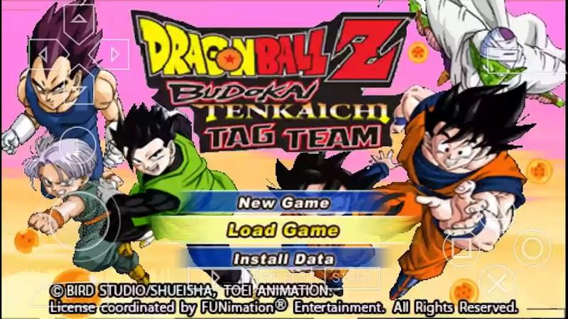 PSP DBZ Game Dragon Ball Z Budokai Tenkaichi Tag Team ISO With Permanent Menu