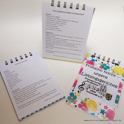 Frühling to go Päckchen am Muttertag mit Rezeptbuch der Vereinsmitglieder Stampin' Up! www.eris-kreativwerkstatt.blogspot.de