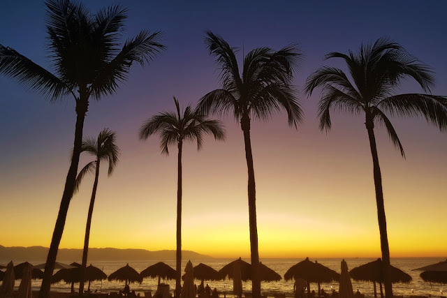 Sunset over Puerto Vallarta...
