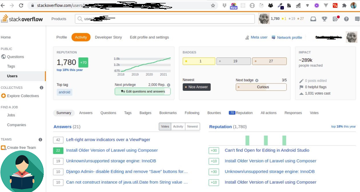 The value of a strong StackOverflow account to Developers
