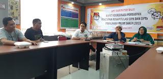 Persiapan Penetapan DPTb dan DPK Pemilu 2019, KPU Wajo Adakan Rakor PPK