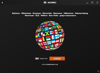 choosing language on monero wallet