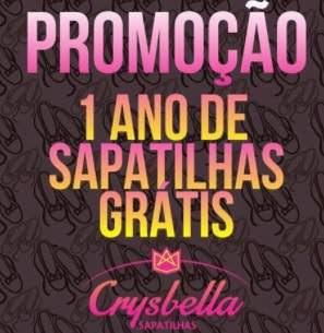 Promoção Crysbella Sapatilhas 2018 Concorrer 1 Ano Sapatilhas Grátis