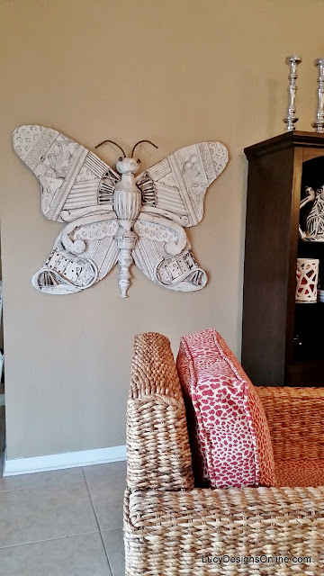 butterfly giant recycled art