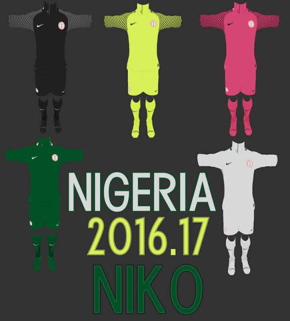 Nigeria 2016/2017 Kit PES 2013