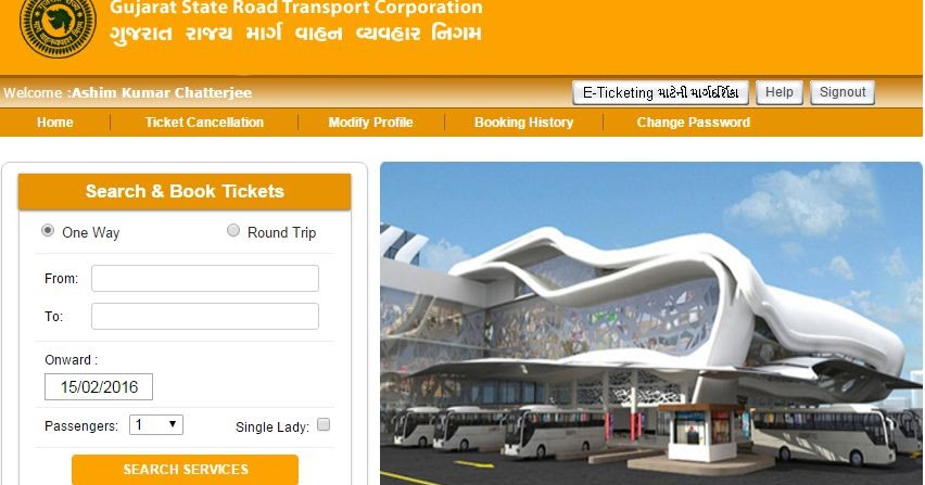 How to Book GSRTC E-Tickets online