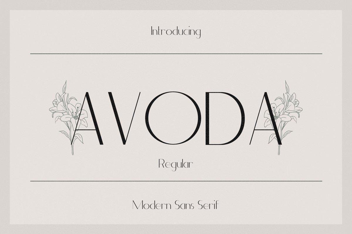 Avoda Font - Free Modern Sans Serif Typeface