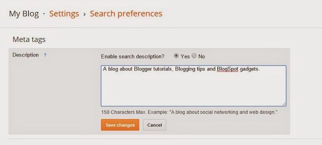Cara Menambahkan Deskripsi Meta di Blogger