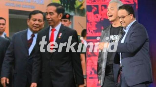 Pengamat: Pilpers 2024, Jokowi-Prabowo Vs Anies-Ganjar