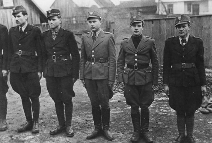 Бійці Національної оборони (лютий – перша половина березня 1939 р., Хуст). © history.vn.ua