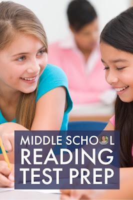 Review SEVEN reading anchor standards with your middle school students using a friendly competition!  #testprep #teaching