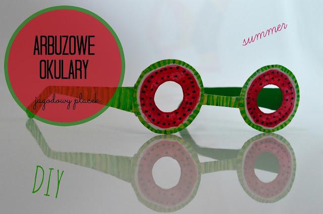 Wakacyjne arbuzowe-okulary | DIY