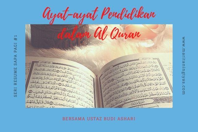ayat-ayat pendidikan di dalam Quran