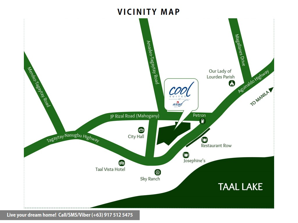 Vicinity Map - SMDC Cool Suites Residences - 1 Bedroom End Unit With Balcony | Condominium for Sale Tagaytay Cavite