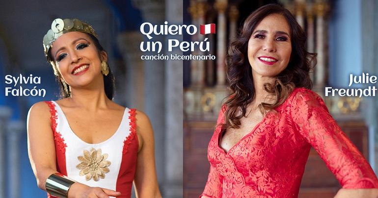 Julie Freundt y Sylvia Falcón presentan tema musical por el Bicentenario