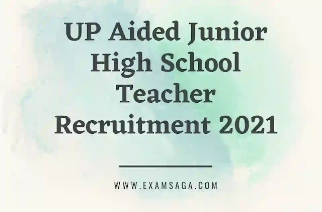 UP Aided Junior High School Teacher Recruitment 2021  Supertet Junior- 2021