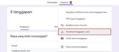 Cara Melihat Hasil Google Forms di PC atau Laptop