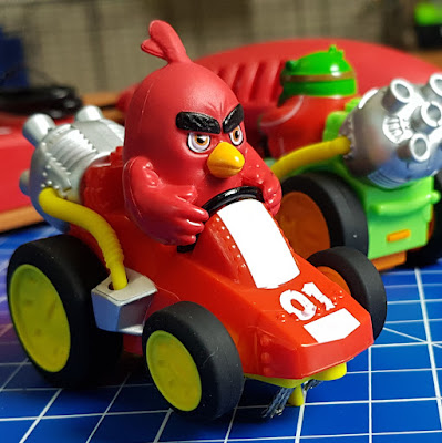 Angry Birds Island Challenge Red slot car close up