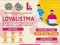 Lomba KTI dan Desan Poster Nasional 2020 di Universitas Negeri Malang