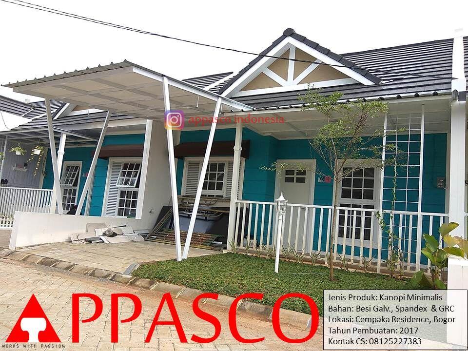 Kanopi Minimalis Modern di Cempaka Residence Bogor