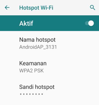 Menyalakan Hotspot Android