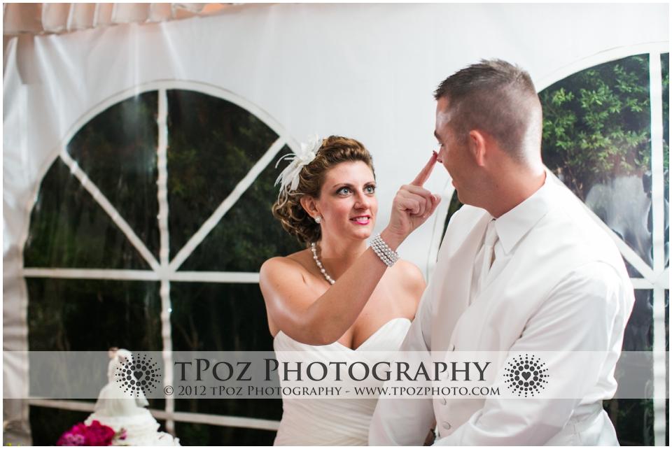 Thomas Birkby House Wedding Reception cake cutting