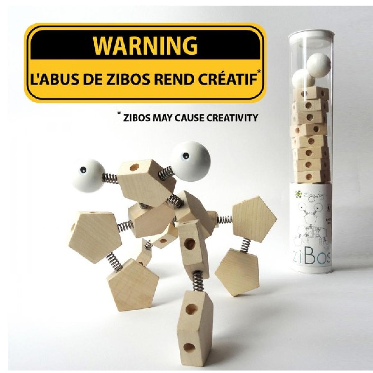 Avec le jeu de construction Zibos créez à l'infini.