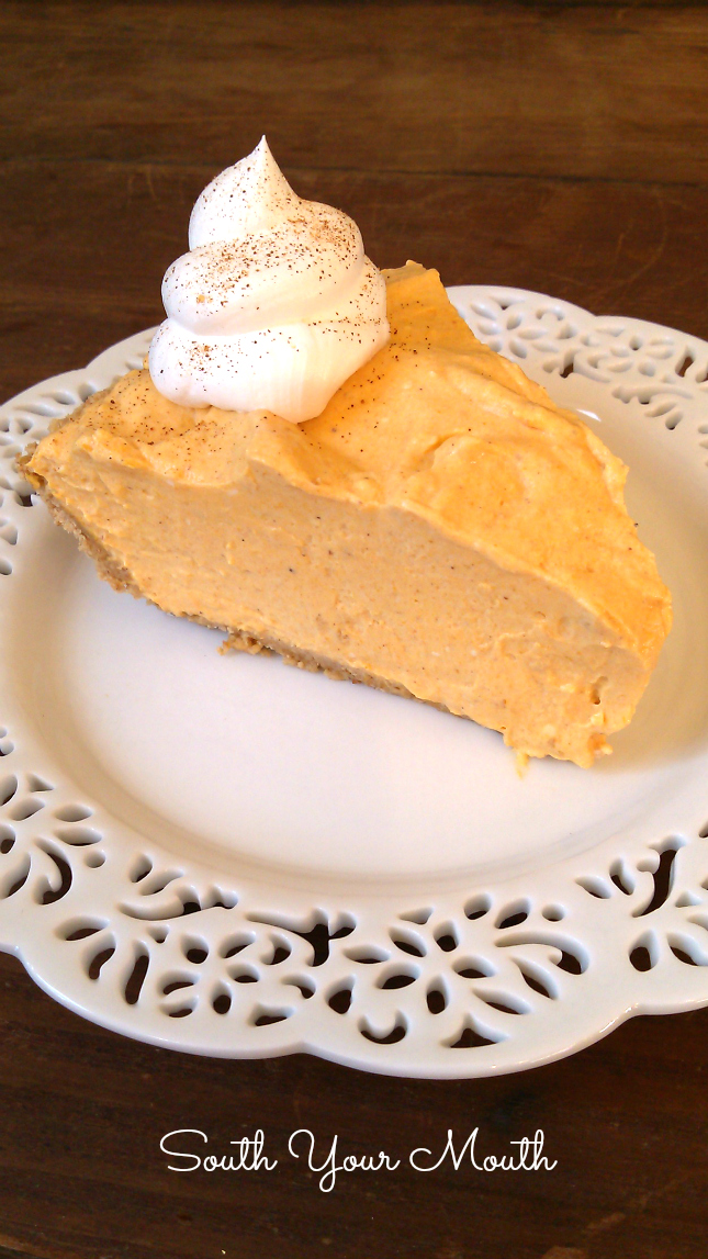 No-Bake Pumpkin Cheesecake made with cream cheese and pumpkin. This is a great alternative to traditional pumpkin pie!
