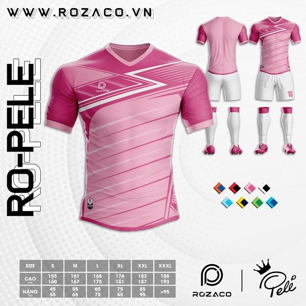 Áo Không Logo Rozaco RO-PELE Màu Hồng Phấn