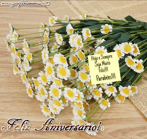 mensagem de aniversario com flores
