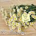 Mensagem de aniversário com cartão em flores lindas