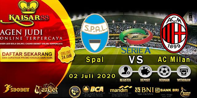 Prediksi Bola Terpercaya Liga Italia Spal vs AC Milan 02 Juli 2020