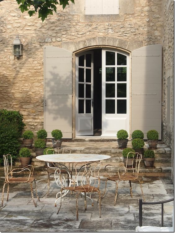 66 french farmhouse decor inspiration ideas part 1 for French country courtyard
