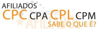 O que significa as siglas ou abreviações CPC, CPL, CPM, CMP, CPI, CPA, CPD, CPS, CPV e Cliques Duplos (de Programas de Afiliados)?