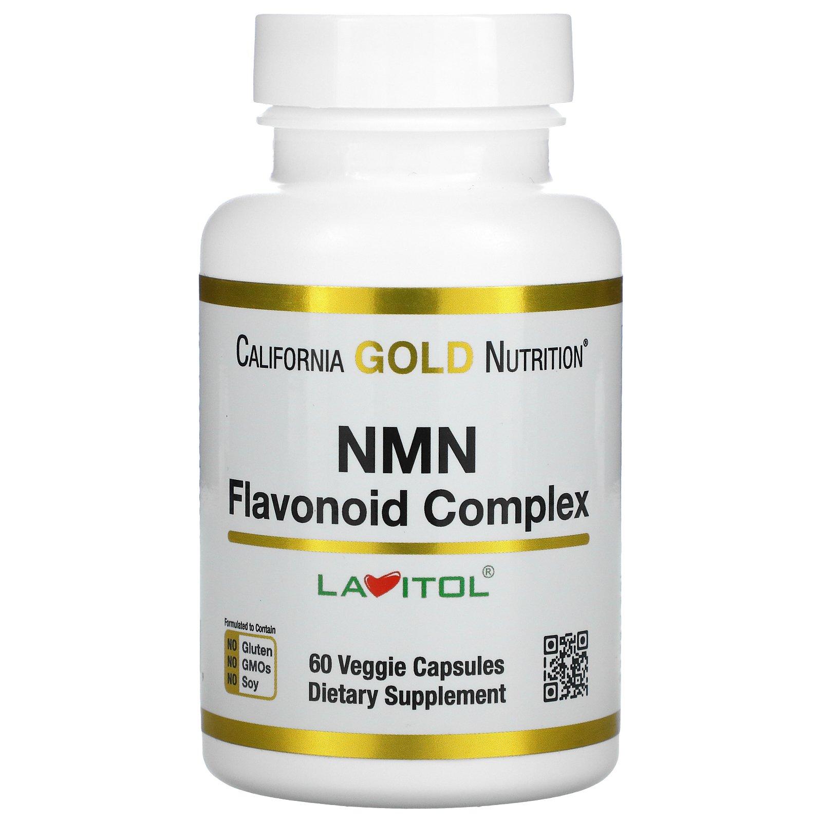 California Gold Nutrition, NMN (Flavonoid Complex), 60 Veggie Capsules