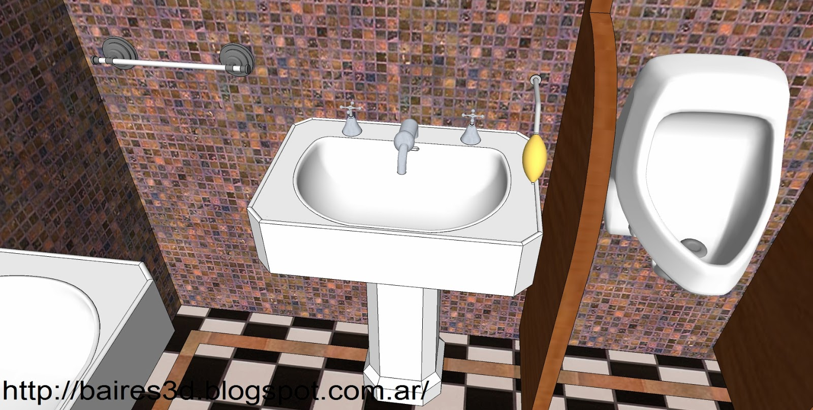 Puertas Para Ba O Sketchup Dikidu Com # Muebles Google Sketchup
