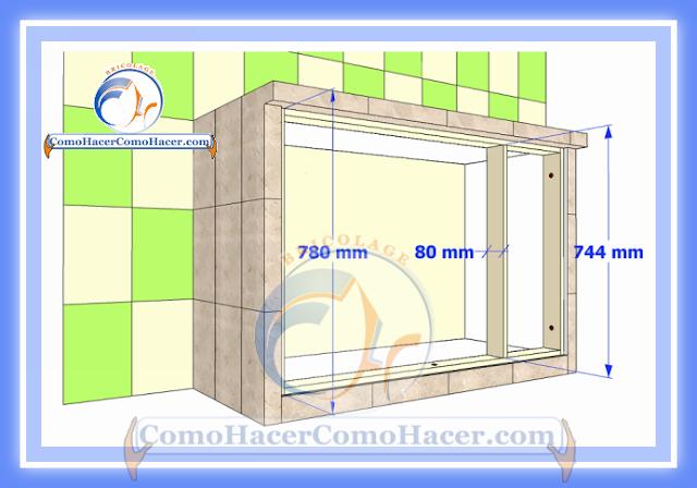 Puertas Para Muebles  Cocina mesada de concreto guía detallada para