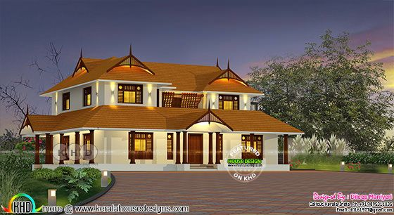 2900 sq-ft traditional Kerala home design