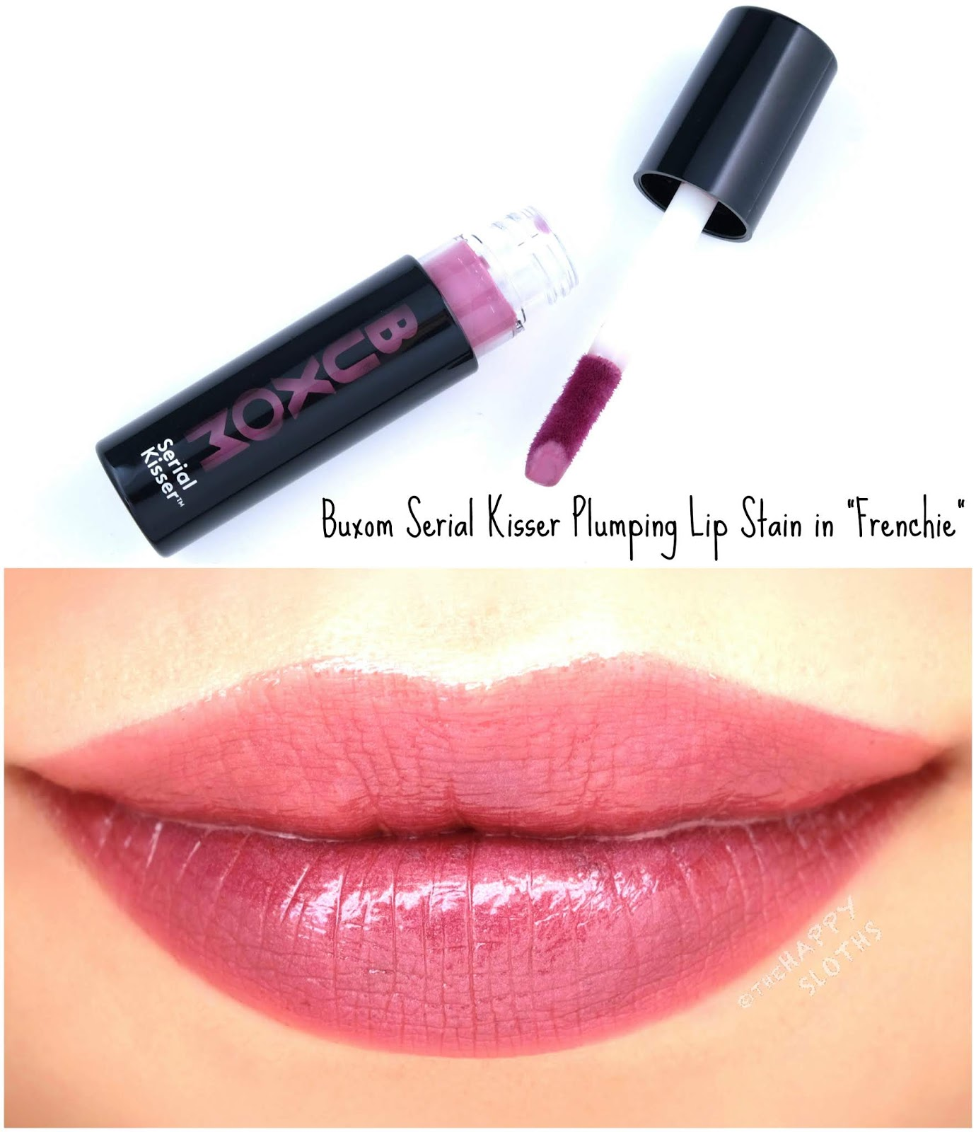 "Buxom | Serial Kisser Plumping Lip Stain in ""Frenchie"": Review and Swatches"