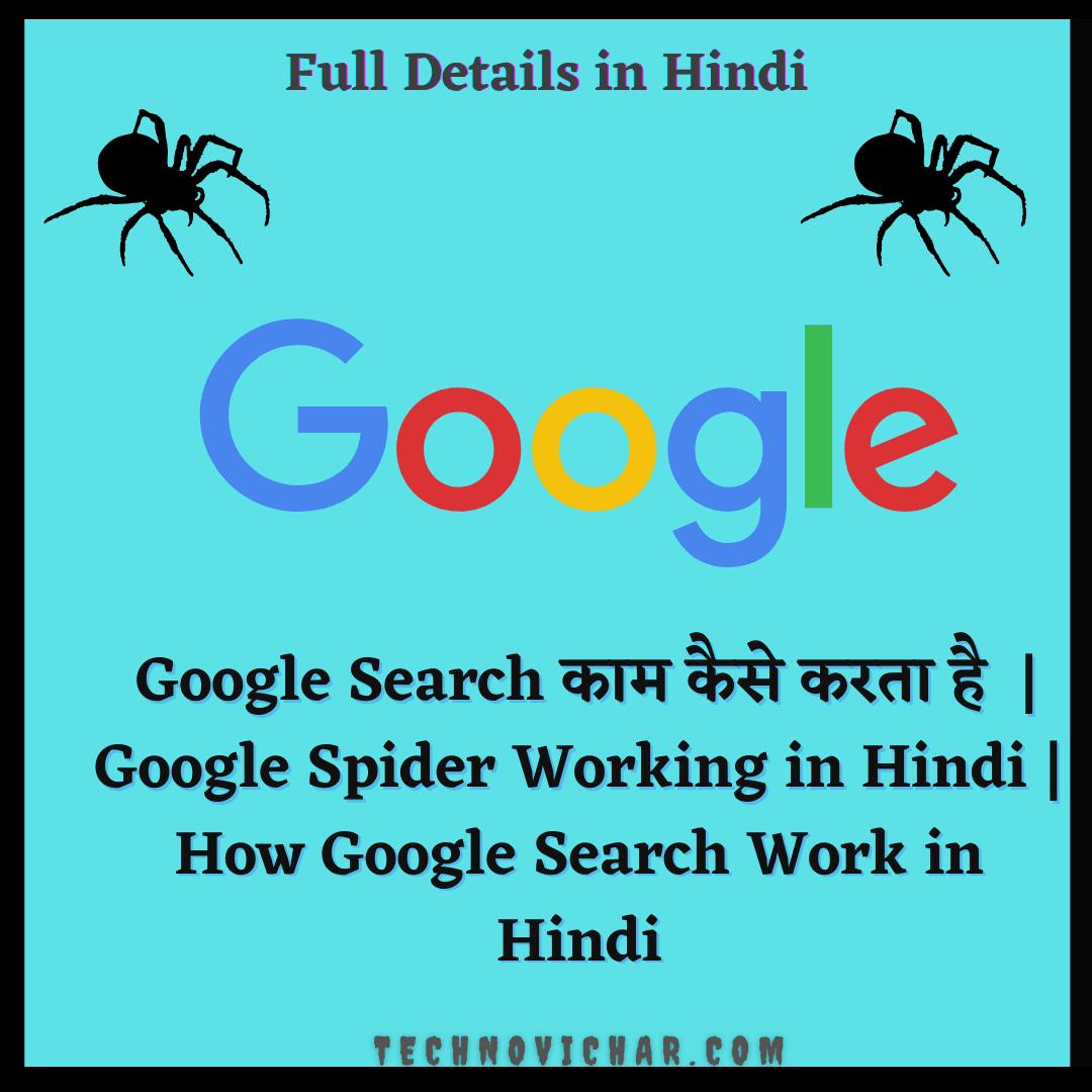 Google Spider Working in Hindi