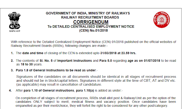 [Notice] RRB ALP & Technician Application Date Extented till 31th March - Hurry up - SSC Officer