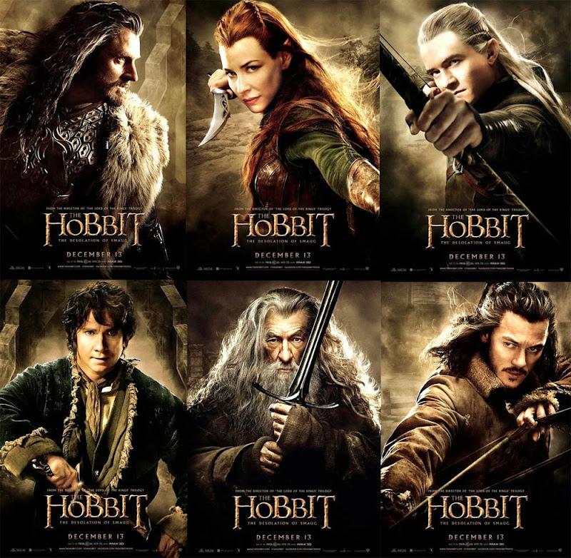 Postere noi pentru caracterele din The Hobbit:The Desolation Of Smaug