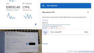 TUTORIAL LENGKAP# Cara Verifikasi Google Adsense setelah menerima PIN