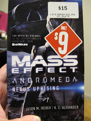 Photo of book cover to Mass Effect Andromeda Nexus Uprising