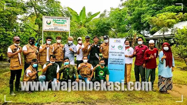 Gandeng FPPL, PT PJB UP Muara Tawar Studi Banding ke Sekolah Alam Prasasti Bekasi